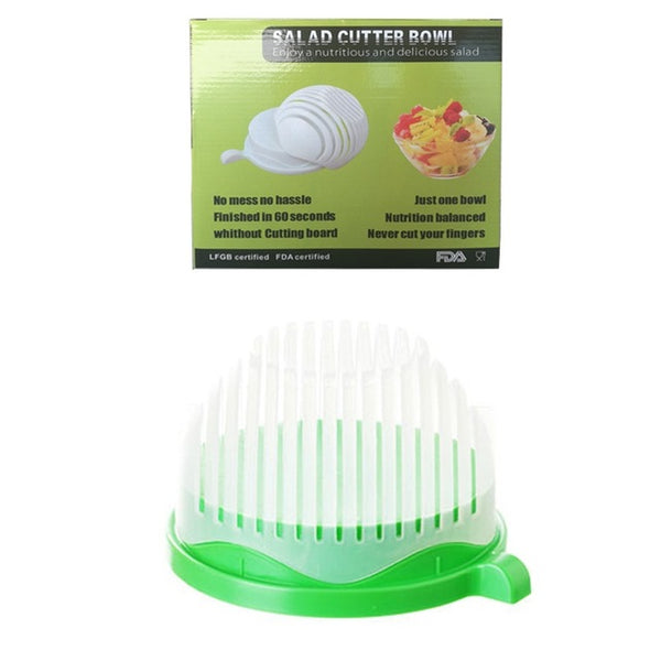 Kitchen Tools, Salad Cutter Bowl, Easy Salad Maker, Fruit Vegetable Chopper Cutter.
