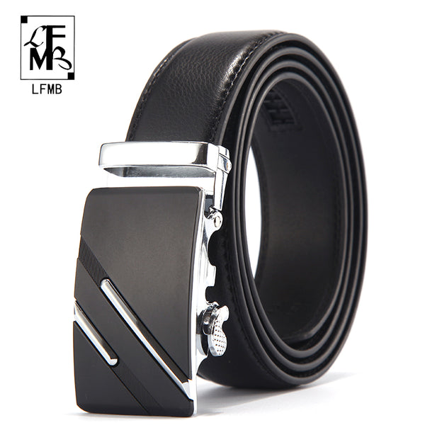 Men Luxury Belt Top Quality Genuine Leather Automatic Buckle