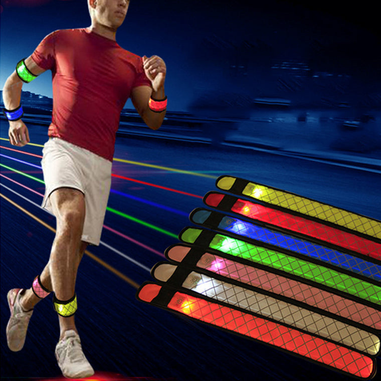 LED Flashing Wrist belt Sports Running Safety Reflective Strap