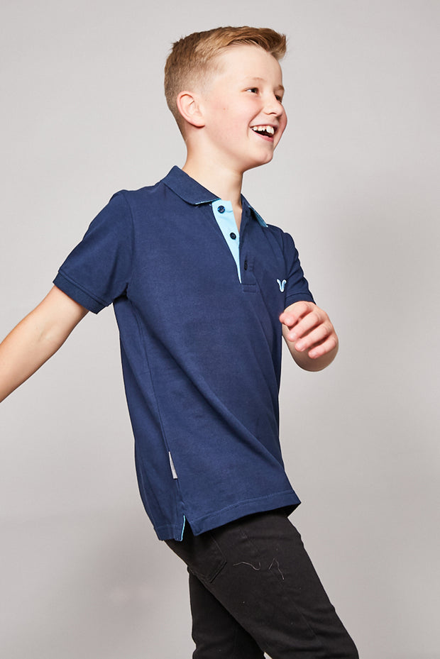 Kids Redford Polo Black Iris
