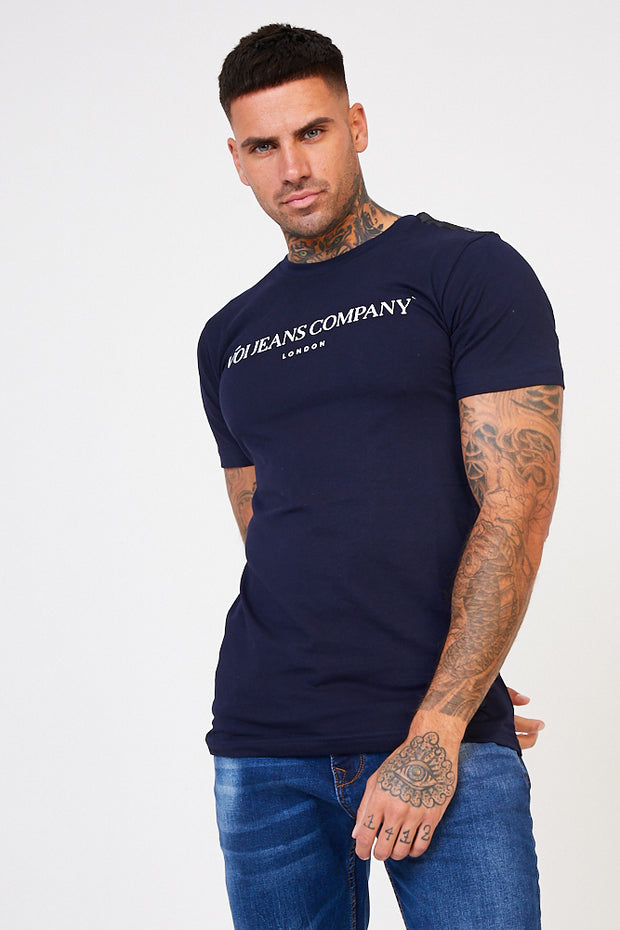 Street Branded Chest Tee - Blue