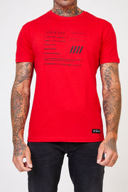 Oxford Graphic Tee - Red