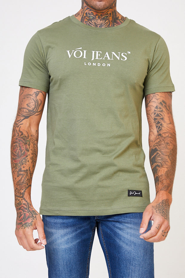 Abbey Graphic Tee - Khaki