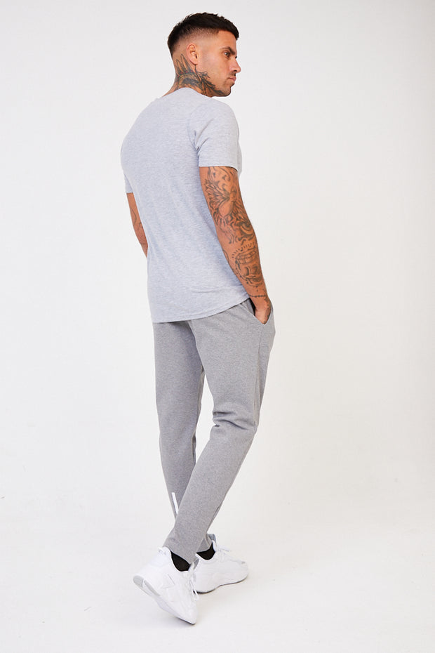 CRU Jogger & T-Shirt Set - Light Grey