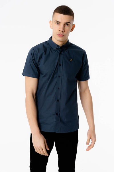 Dany Navy Short Sleeve Plain Shirt