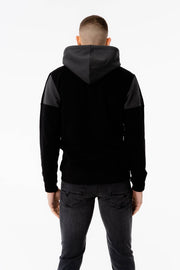Proteus Hood in Black Charcoal White
