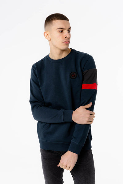 Hyperion Crew Neck Sweat in Navy