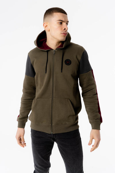 Mimas Hood in Khaki Grey