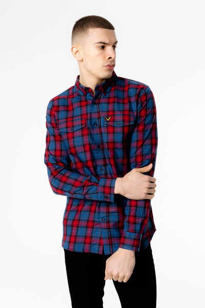 Chess Voi Shirt - Blue Check