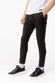 Small Check Pant in Dark Brown Check