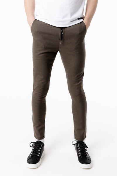 Stretch Tweed Pants in Brown