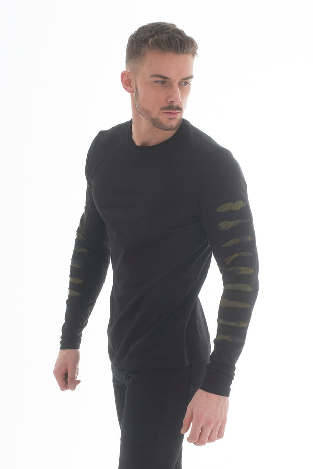 Armour Long Sleeve T-Shirt Black - Voi Jeans