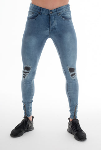 Forger Light Wash Skinny Fit Jeans