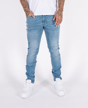 Fondi Light Wash 5 Pocket Tapered Denim Jeans