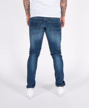 HJ 8520 Vintage Blue Tapered Stretch Denim Jeans