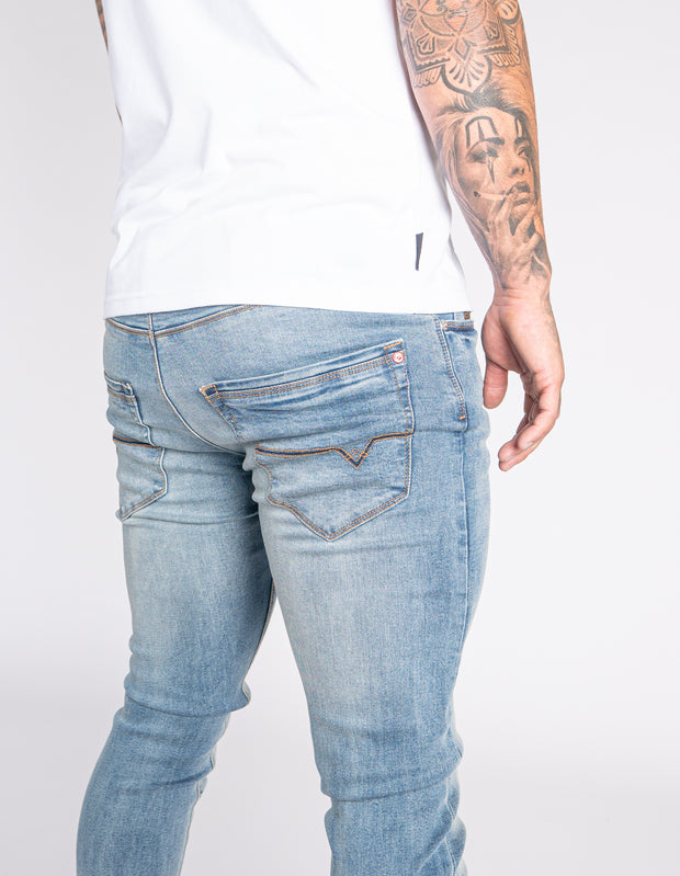 LJ 6640 Light Skinny Stretch Denim Jeans