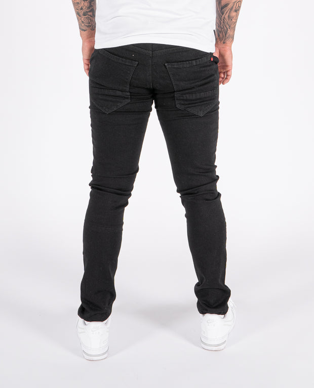 Lorita Black Constructed Denim Jeans