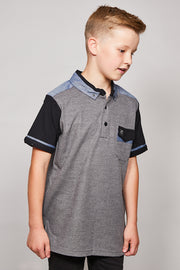 Kids Mesi Polo Black
