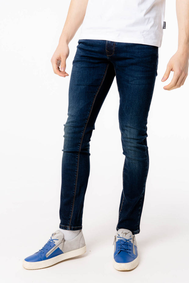 Harvey Tapered Stretch Dark Blue Jean