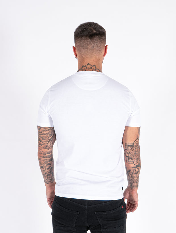 Avezano White Graphic Tee
