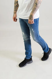 HJ 8540 Tapered Stretch Jeans - Light Blue
