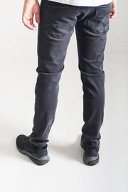 HJ 8550 Tapered Stretch Jeans - Washed Black