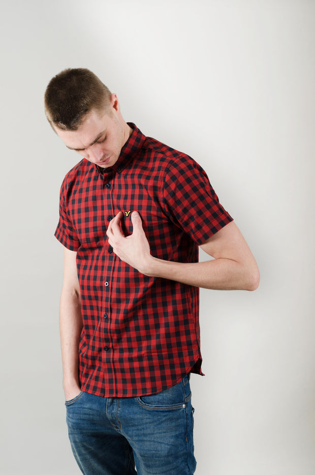 Beano Voi Shirt - Red Check