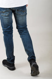 HJ 8530 Tapered Stretch Jeans - Tinted Blue