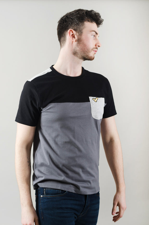Coast Cut & Sew Tee - Black/Grey