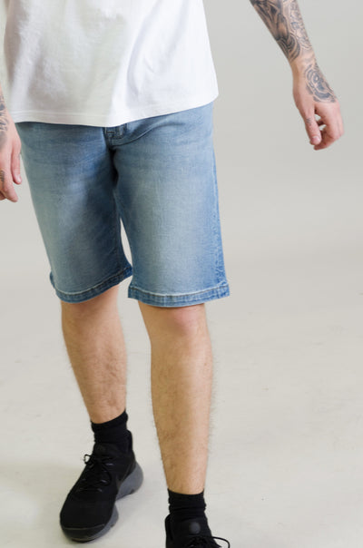 SH 1020 Slim Fit Denim Shorts - Light Blue