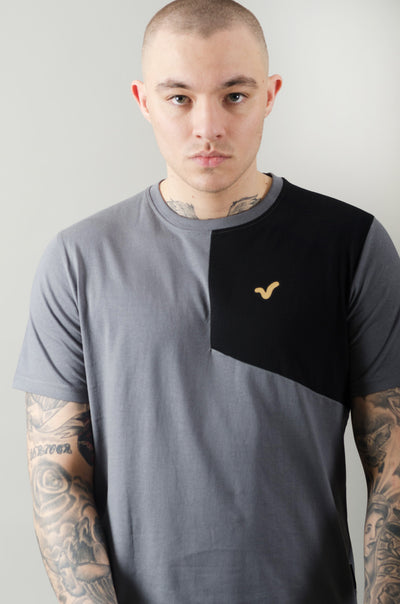 Sindel Cut & Sew Tee - Charcoal/Black