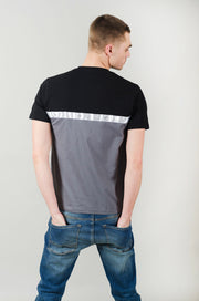 Apollo Cut & Sew Tee - Black/Grey