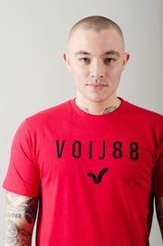 General Raised Embo Tee - Red