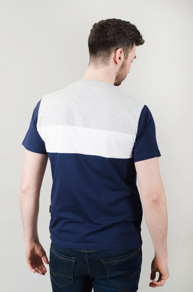 Bono Cut & Sew Tee - Navy/White/Grey