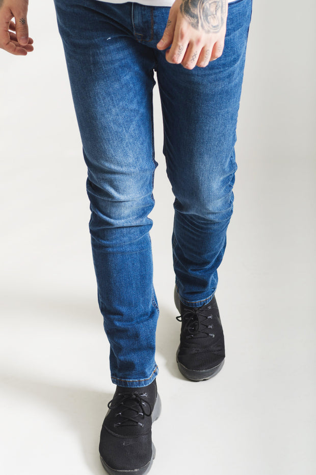 HJ 8510 Tapered Stretch Jeans - Blue