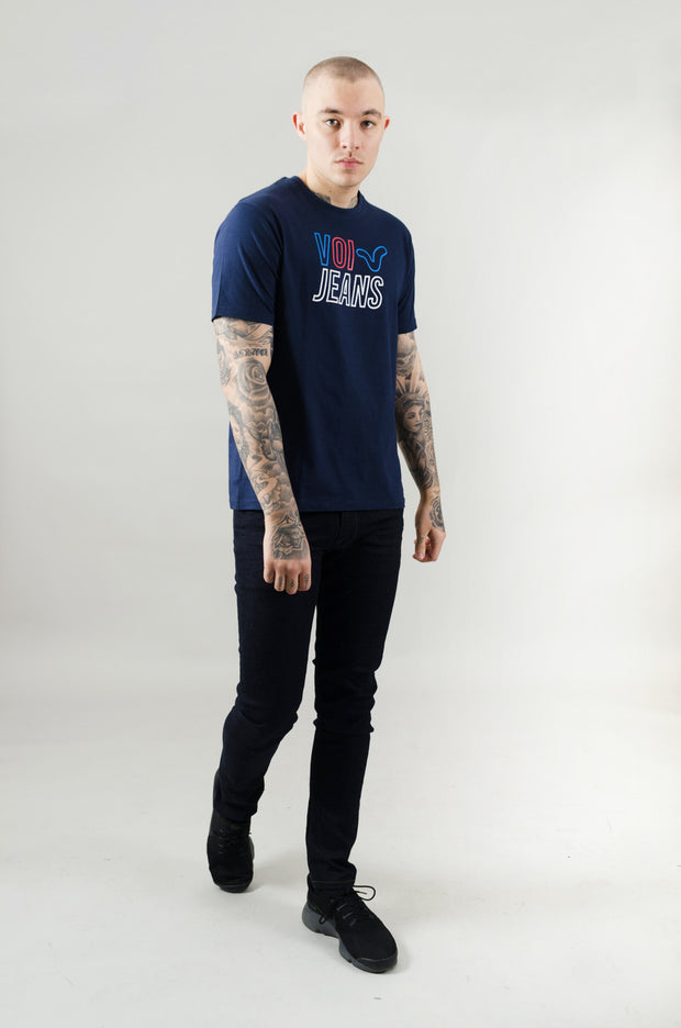 Tricot Graphic Tee - Navy