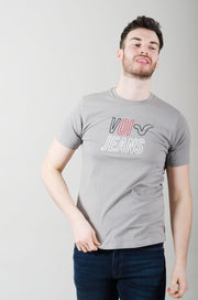 Tricot Graphic Tee - Light Grey