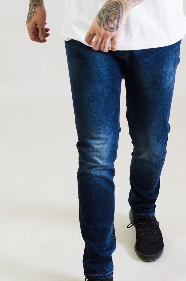 HJ 8520 Tapered Stretch Jeans - Dark Blue