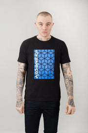 Cube Graphic Tee - Black/Blue