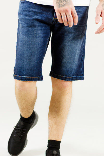 SH 1000 Slim Fit Denim Shorts - Dark Blue