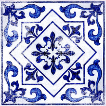 FloorAdorn® Light Blue Moroccan Vinyl Appliqués