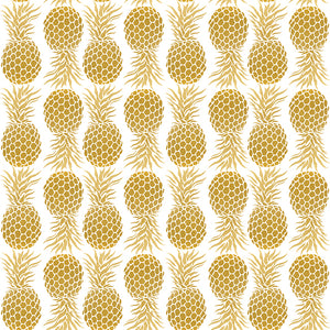 Con-Tact® Brand Grip Prints™ Gold Pineapple