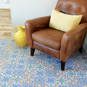 FloorAdorn® Mexican Tile Vinyl Appliqués