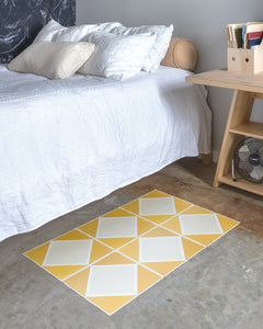 FloorAdorn® Yellow Diamond Vinyl Appliqués