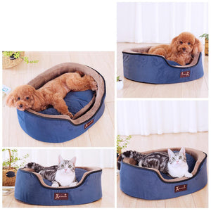 Hoopet dog Detachable Soft Warm bed - House Round