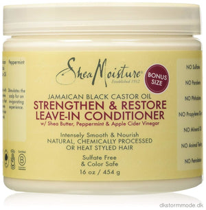 Black Castor Oil Strengthen Grow & Restore Leave-In Conditioner 453G - Diy Silk Press Hair Step 4/5
