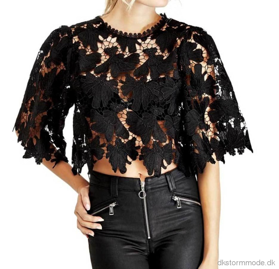 Brand Lace Top - Guess |Ds474870Cj22K50 Blouse And Tops