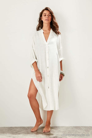 Button Shirt Beach Dress |Dstbess19Xm0163 Beyaz / 36