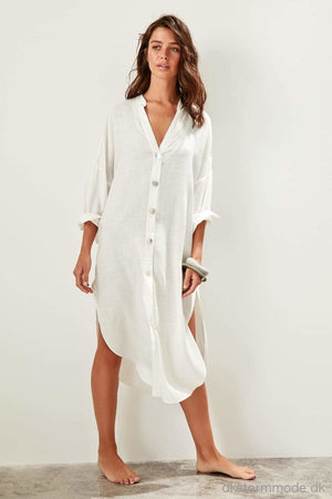 Button Shirt Beach Dress |Dstbess19Xm0163