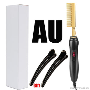 Comb Afro Hair Straightener Curling Iron - Also For Curling Turn 4C Into Straight All Types